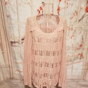Maurice's Pink Sweater With Lace